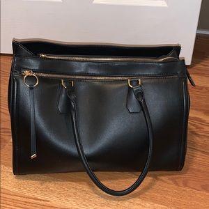 Black zip up bag
